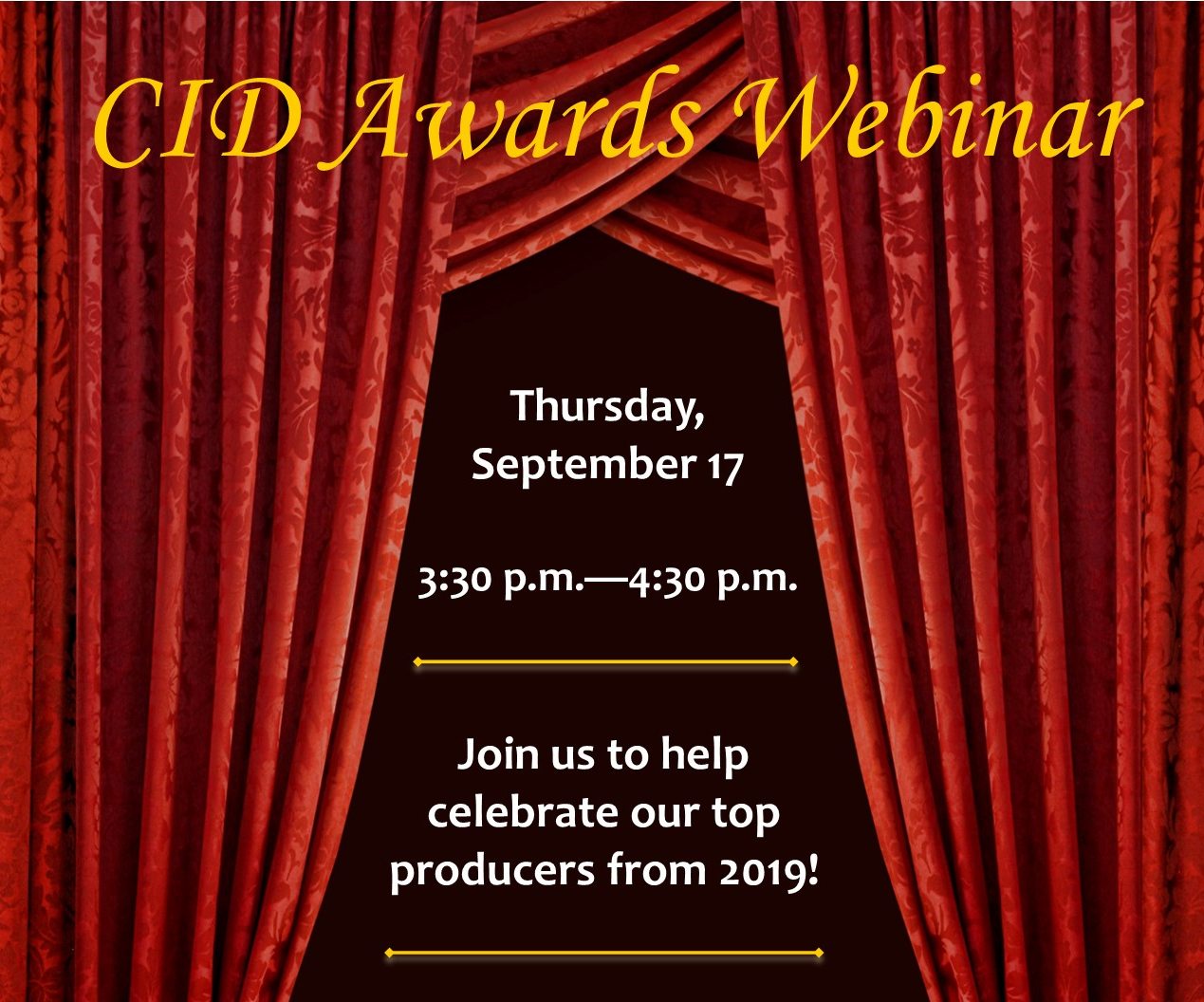 Awards Webinar newsletter